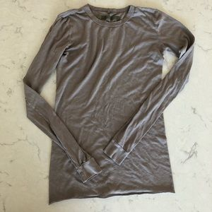Enza Costa Long Sleeve Cotton Tee Size S